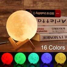 3D Star Moon Light Moon Lamp Kids Night Light LED Smart Bluetooth Speakers Remote Touch Control Birt