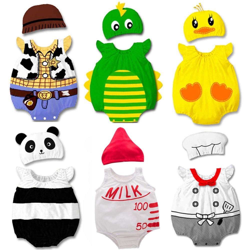 Umorden-زي كاوبوي للأطفال ، كارتون ، ديناصور ، باندا ، طاه ، بطة ، بدلة صيفية قصيرة ، بدلة الهالوين ، ملابس تنكرية