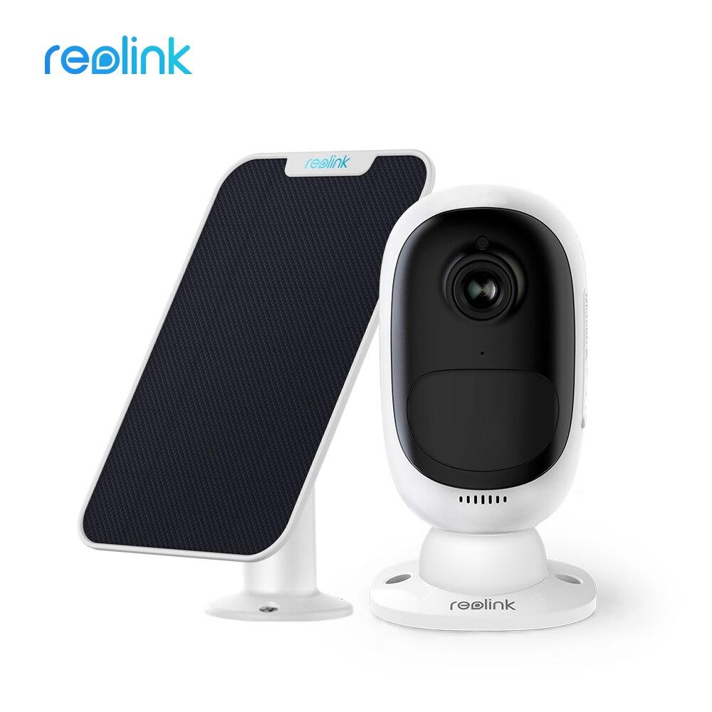Reolink wifi completa hd 1080p câmera de segurança ip alimentado por bateria recarregável e painel solar de carregamento de energia vídeo kit