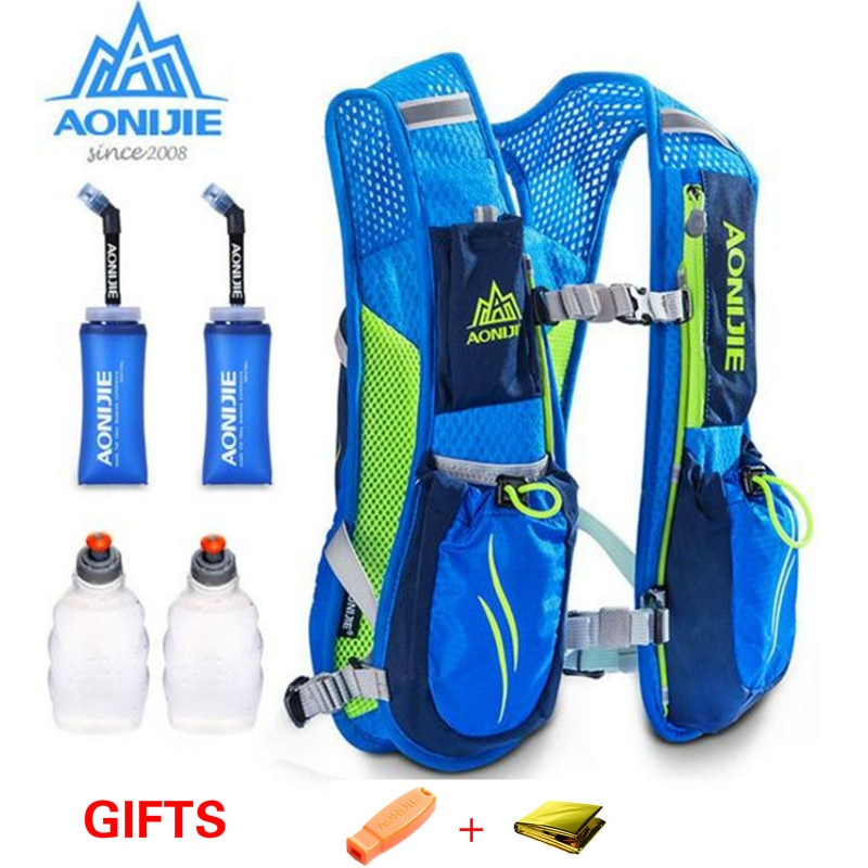 AONIJIE E885 Running Marathon Hydration Nylon 5.5L Outdoor Running Bags Hiking Backpack Vest Marathon Cycling Backpack
