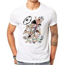 ¡Novedad de 2020! Camiseta a la moda de capitán Tsubasa, divertida camiseta de fútbol de Anime japonés para hombres, disfraces de Cosplay para hombres, camiseta superior Kojiro