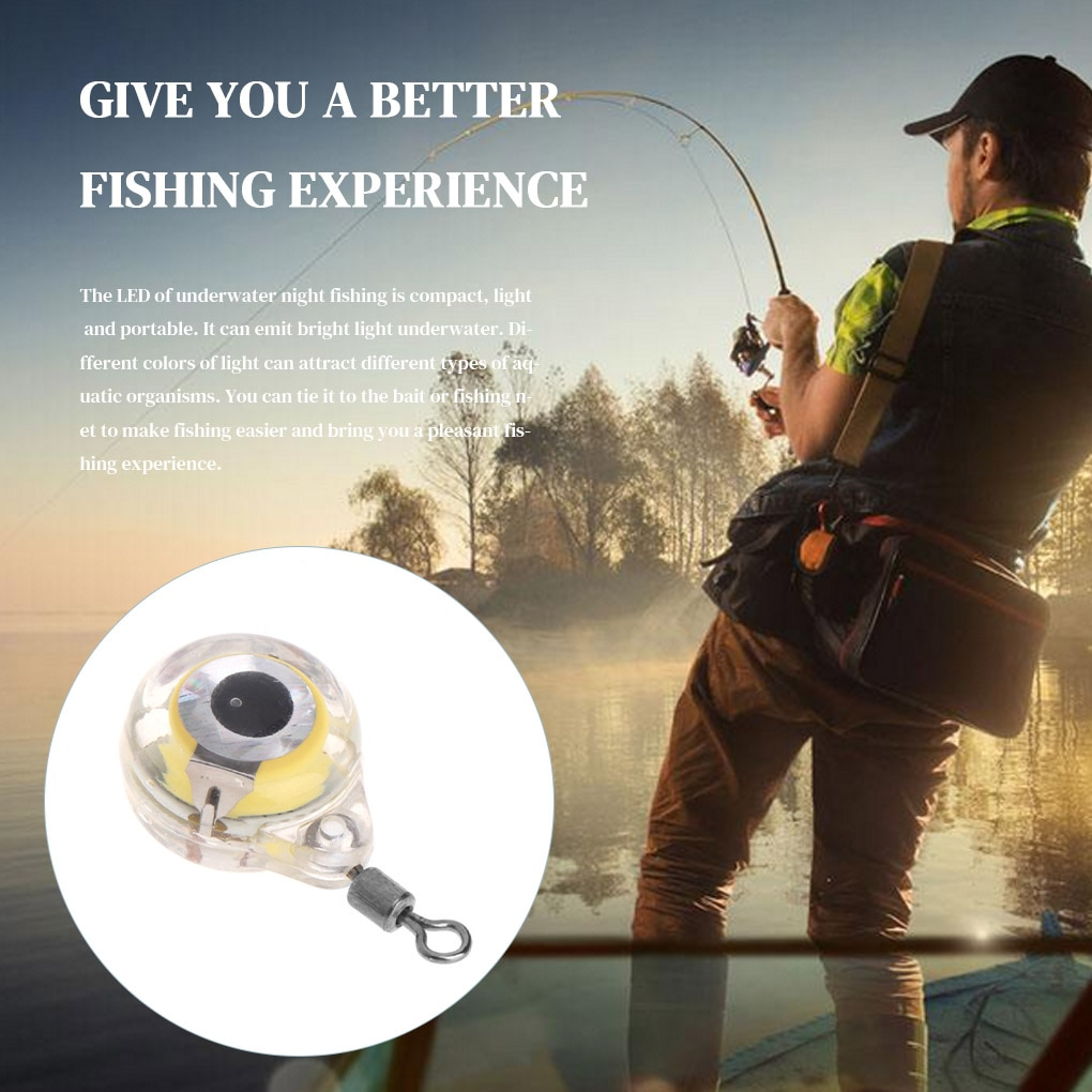 100 pieces Fishing Lure Light Outdoor Freshwater Saltwater Fishing LED Colorful Light Mini Lure Lamp Battery Powered enlarge
