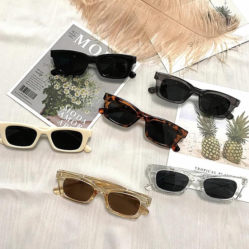 1PCs New Women Rectangle Vintage Sunglasses Brand Designer Retro Points Sun Glasses Female Lady Eyeg