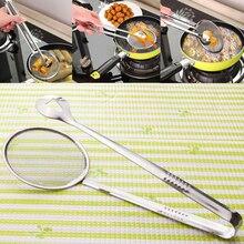 Tamis à louche à tamis à mailles fines avec pince ustensile de tamis de cuisine multifonctionnel