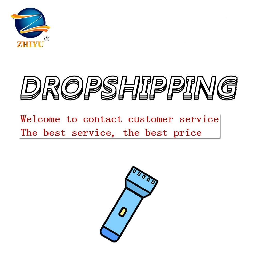 ZHIYU Rechargable Portable LED Flashlight COB+XPE LED Torch Private Custom