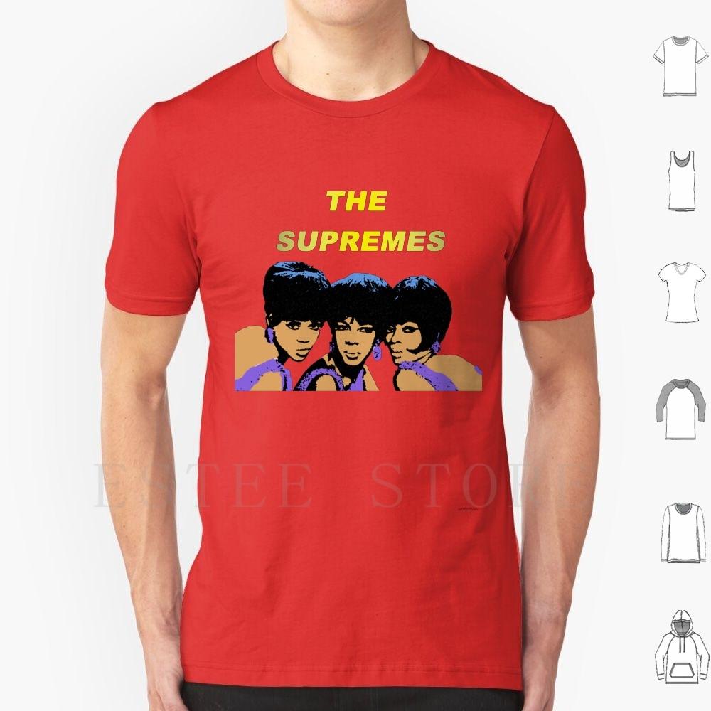 The T Shirt Diy Big Size 100% Cotton The Motown Music Diana Ross Queen Pop Flo Ballard Mary Love