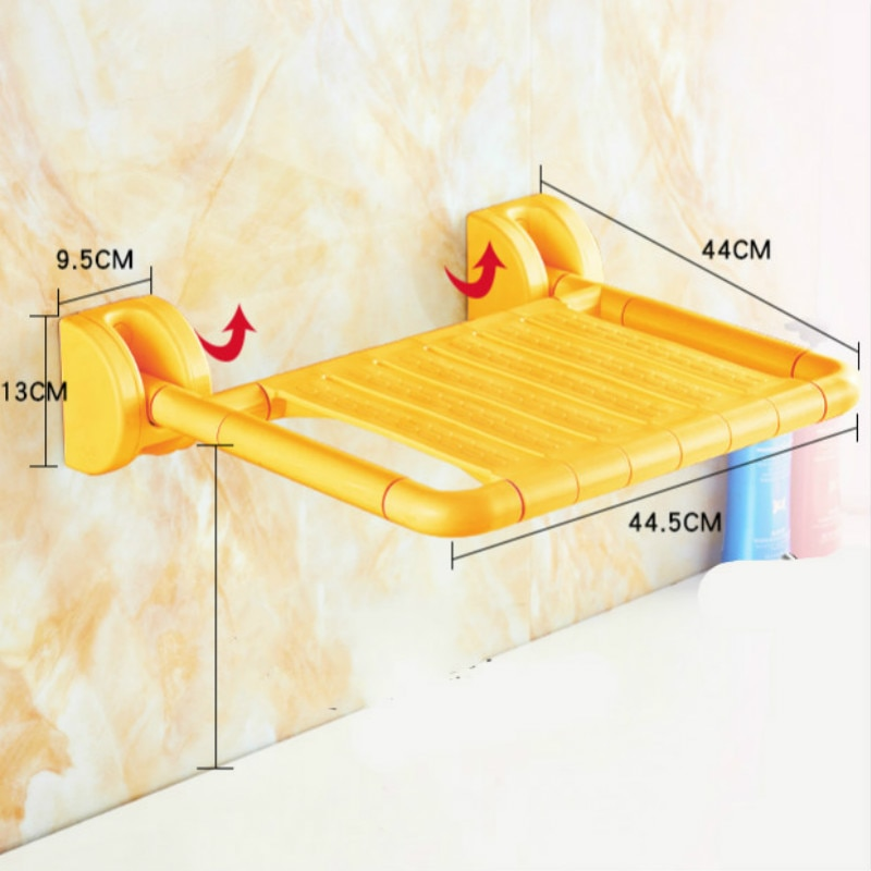 Wall-mounted Chairs Stools Bath Wall Chair bath shower chair Shower Stools Bathroom Foldable Chair Anti-skid Toilet Stool