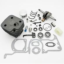 HUNDURE 50mm & 52mm Cylinder Piston Crankshaft Crank Bearing Oil Seal Kit For HUSQVARNA 268 272 272XP 272K Gas Chainsaw Parts