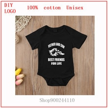 Bodysuits baby for Newborns Boys Girls Clothes Short Sleeves Father And Son Father's Day white print