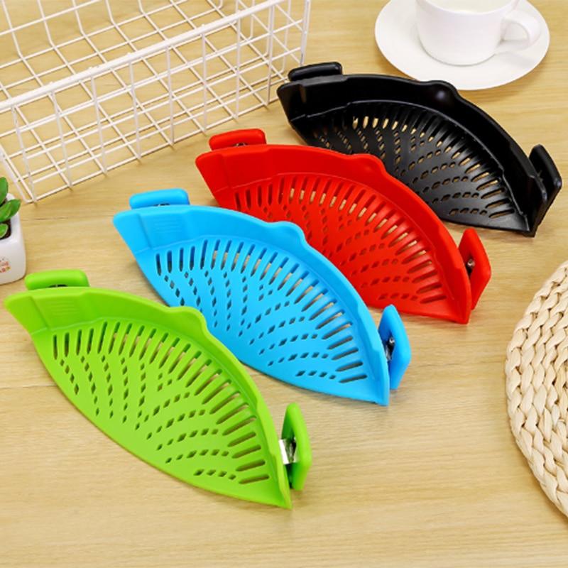 Cuisine égouttoir silicone pot côté légumes vidange égouttoir ménage filtre à eau nouilles étanche égouttoir # A2610