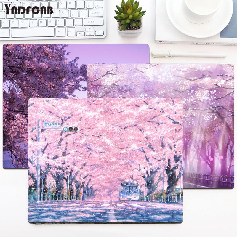 YNDFCNB японский Розовый Цветущий Вишневый нескользящий прочный силиконовый коврик для компьютерных записей настольные компьютеры игровой к...