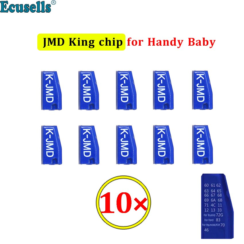 10 unids/lote nuevo Original JMD King Chip para mano bebé 46/48/4C/4D/G Chip JMD Chip Super JMD chip azul
