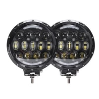 car accessories 2pcs 7 inch 105w round led work light led driving lamps for jeep 4x4 offroad truck tractor atv suv
