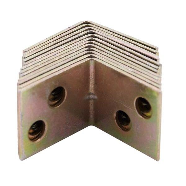 Металлическая Полка Поддержка 90 градусов правая угловая скобка 12 шт. латунный