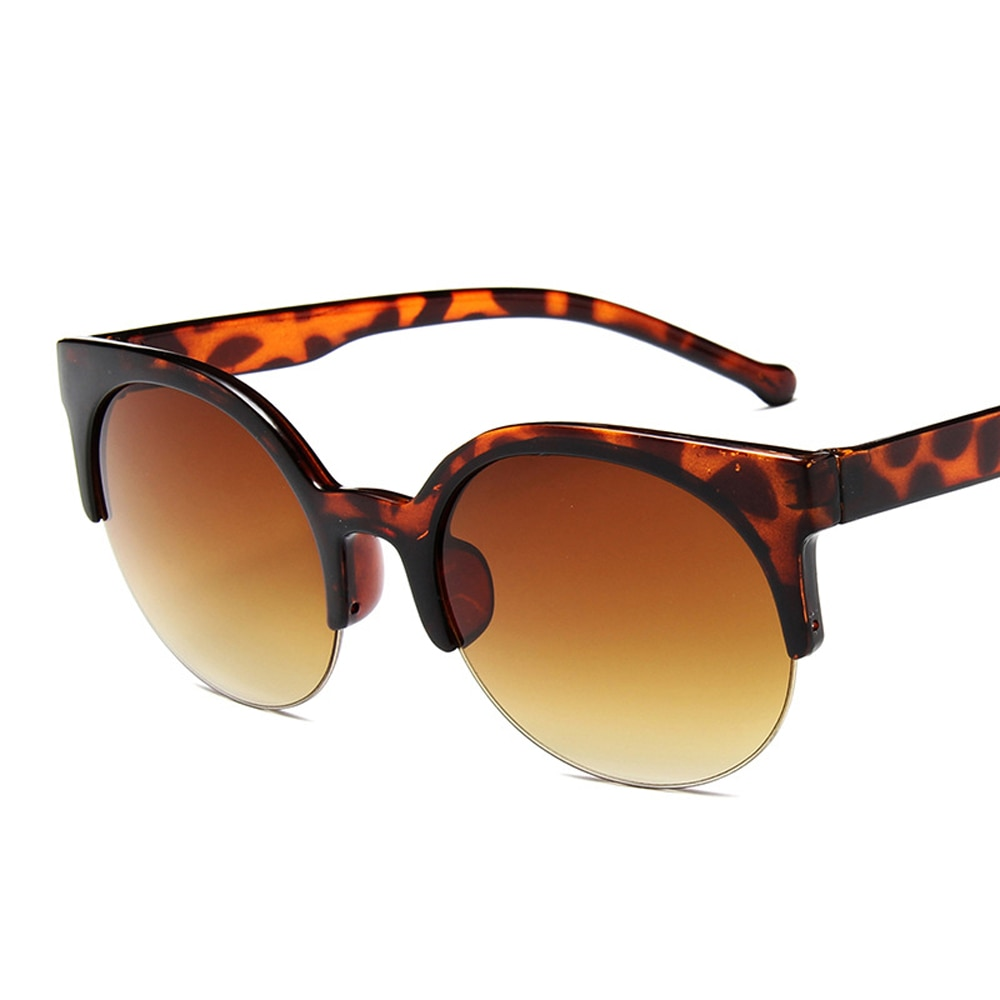Oculos De Sol Feminino 2022 New Fashion Retro Designer Super Round Circle Glasses Cat Eye Women's Su