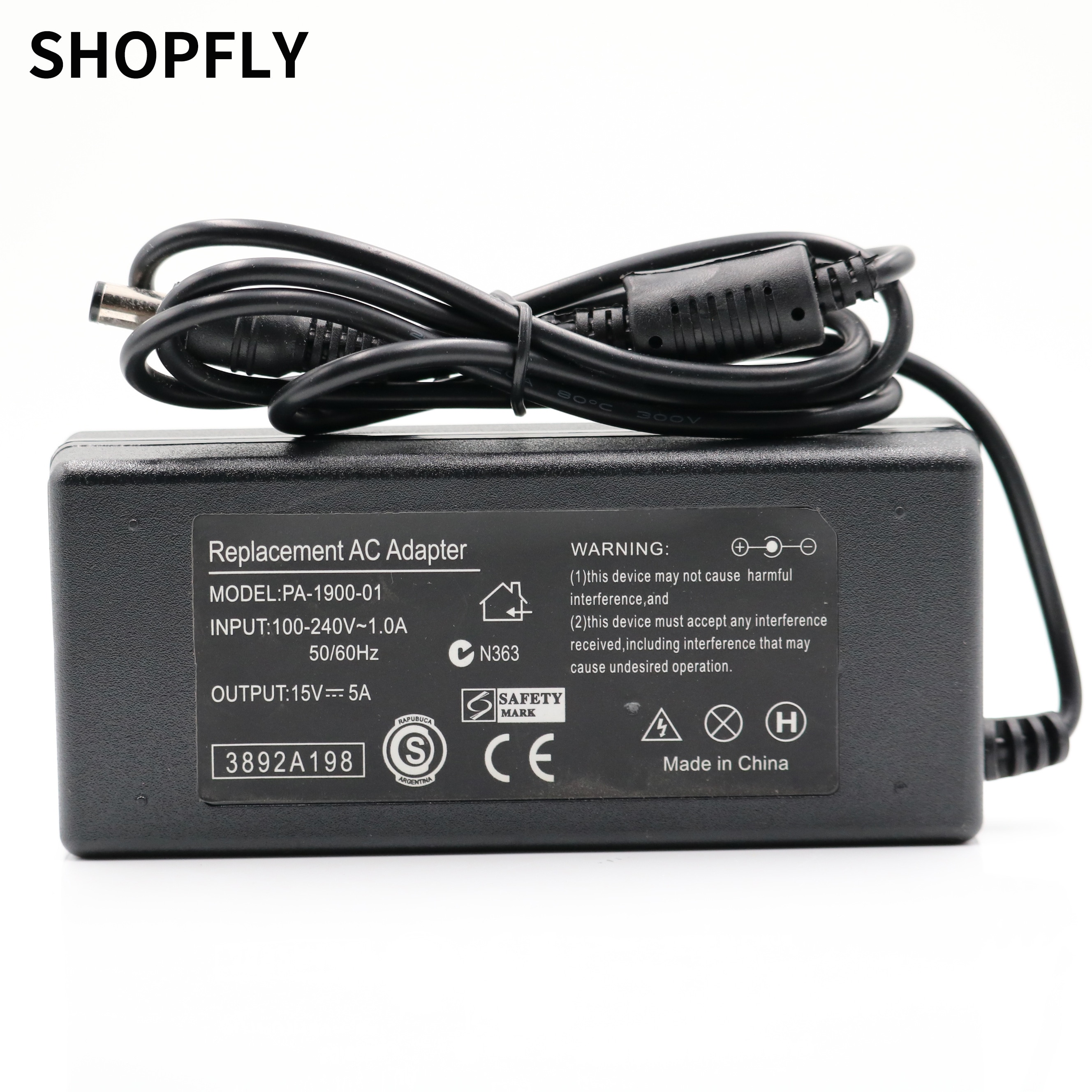 advantages mean well cen 75 15 15v 5a meanwell cen 75 15v 75w single output led power supply New 6.3mm*3.0mm Jack 75W AC Adapter Charger Power Supply 15V 5A For Toshiba Tecra A6-10 M100 M200 Laptop Adapter Charger Power