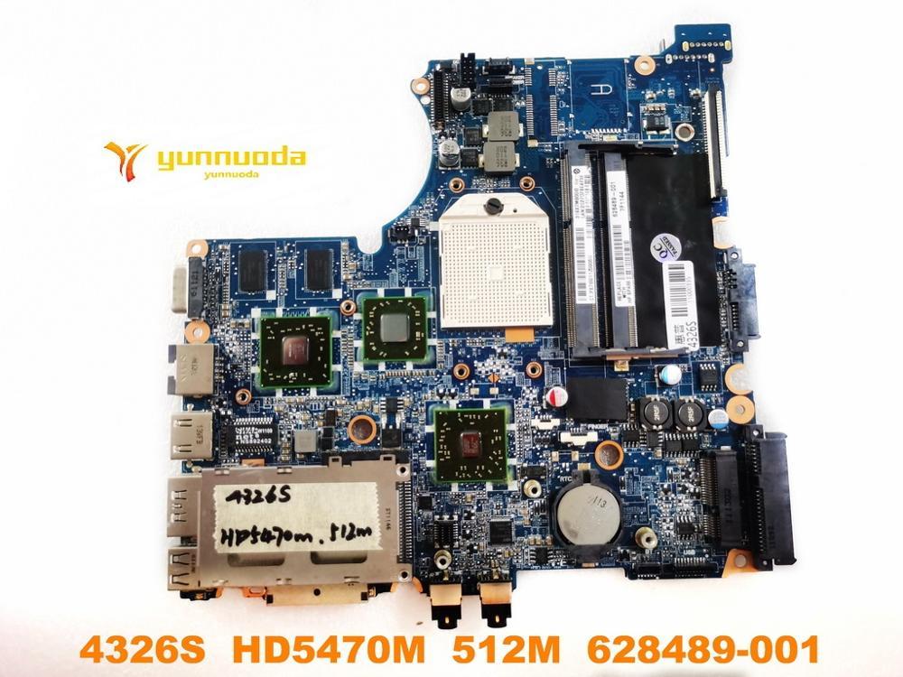 لوحة أم للكمبيوتر المحمول HP 4326S الأصلي 4326S HD5470M 512M 628489-001 تم اختبارها بشكل جيد شحن مجاني