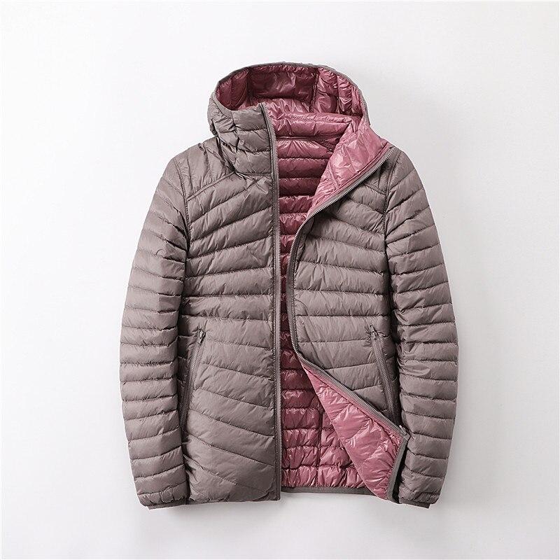 Chaquetas de mujer, chaqueta Ultra fino algodón Down para mujer, Otoño Invierno 2020, chaquetas cálidas para mujer, Parka de dos lados, chaqueta femenina, prendas de vestir