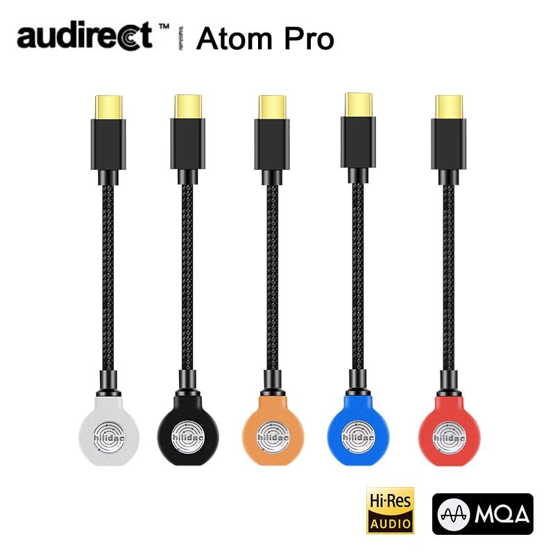 Hilidac Audirect Atom Pro MQA ESS9281C USB DAC كابل مضخم ضوت سماعات الأذن أمبير البرق/TYPE-C إلى 3.5 متر خط الصوت ل Ios أندرويد