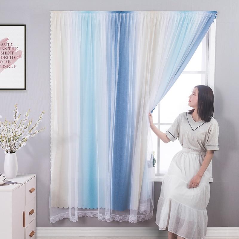 لكمة خالية الفيلكرو ستائر تعتيم لغرفة المعيشة غرفة نوم نافذة الستائر واقية الجدار سهلة التركيب الستائر الستائر جديد