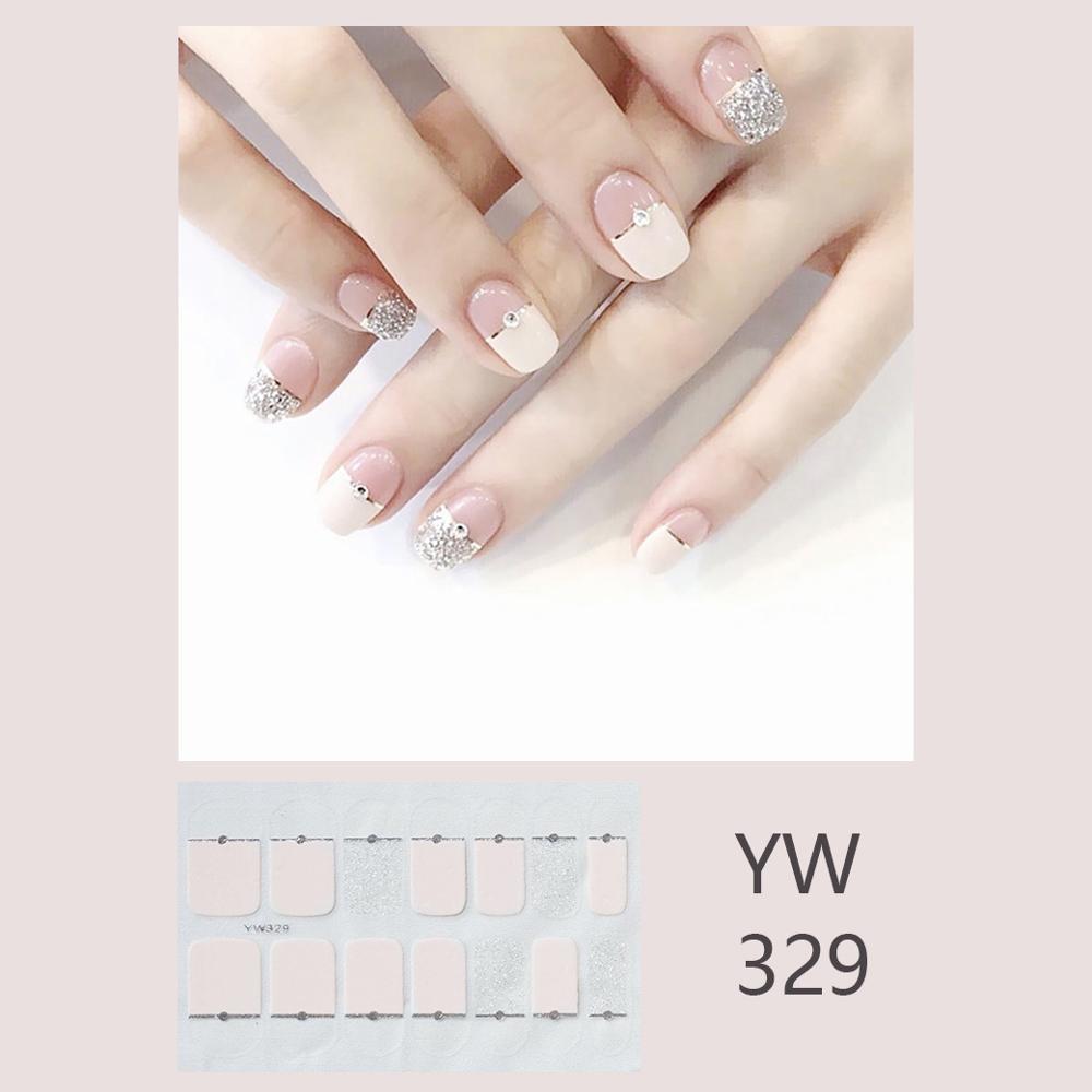 2020  Wraps Decal Faux Ongles Nail Art Decoration Korea Japan Style Nail Stickers  False Nail Tips Full Cover Nail Strips 1pc
