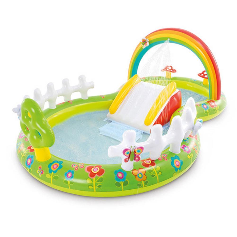 Семейный надувной бассейн для сада, радуги, игровой центр, бассейн для детей, летние вечерние бассейны на заднем дворе