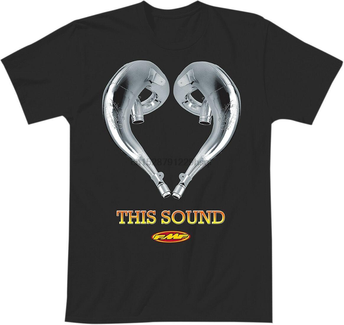 Engraçado fmf racing adulto amor este som manga curta camiseta preto camiseta