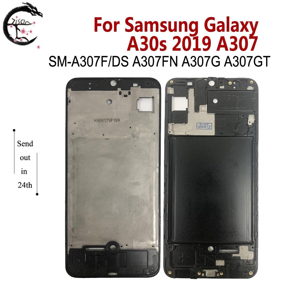 Marco medio para Samsung Galaxy A30s 2019 A307 carcasa de Marco medio SM-A307F/DS A307FN A307G reemplazo de marco de teléfono de cubierta frontal
