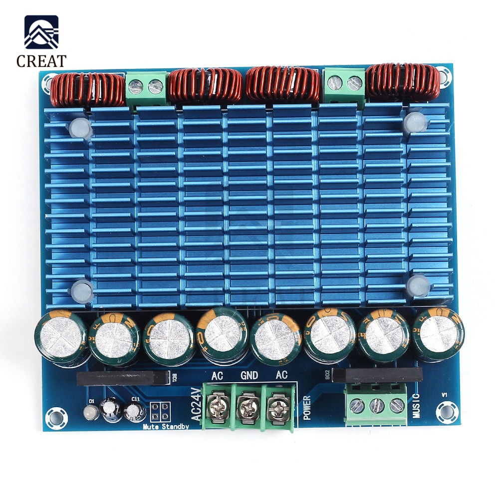 TDA8954TH ثنائي القناة 420Wx2 الفئة D الصوت الرقمي مكبر صوت استيريو وحدة HIFI مكبر للصوت مجلس XH-M252 مزدوج التيار المتناوب 24 فولت