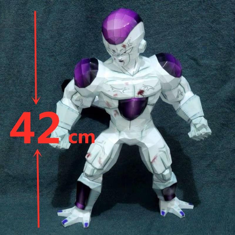 42cm Dragon Ball Z Majin Buu Majin Boo Freeza frieza figurine en papier modèle jouets collection poupée anime dessin animé modèle créatif