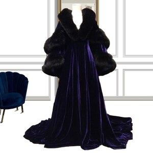 Plus Size Photography Gowns robe de soirée de mariage  Fur Cosplay Dresses Elegant Dress Women For Party выпускное платье