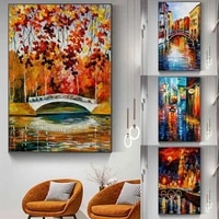 nordic landscape oil painting watercolor abstract art canvas painting living room corridor office home decoration mural