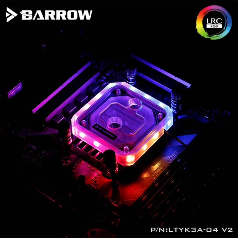 Барроу LTYK3A-04-V2, для RyzenAMD/AM4/AM3 CPU водяные блоки, LRC RGB v2 акриловый блок водяного охлаждения с кулером для процессора радиатора