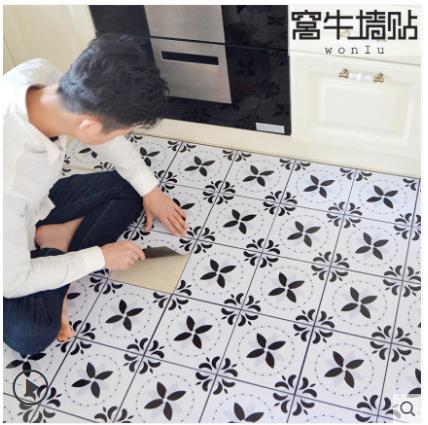 Azulejo de piso antideslizante para baño, pegatinas impermeables, pegatinas decorativas para pared, alfombrilla para suelo de cocina, papel tapiz autoadhesivo-10