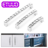 silver crystal glass knobs diamond door accessory furniture pull handle hardware cupboard pulls knob kitchen cabinet drawer