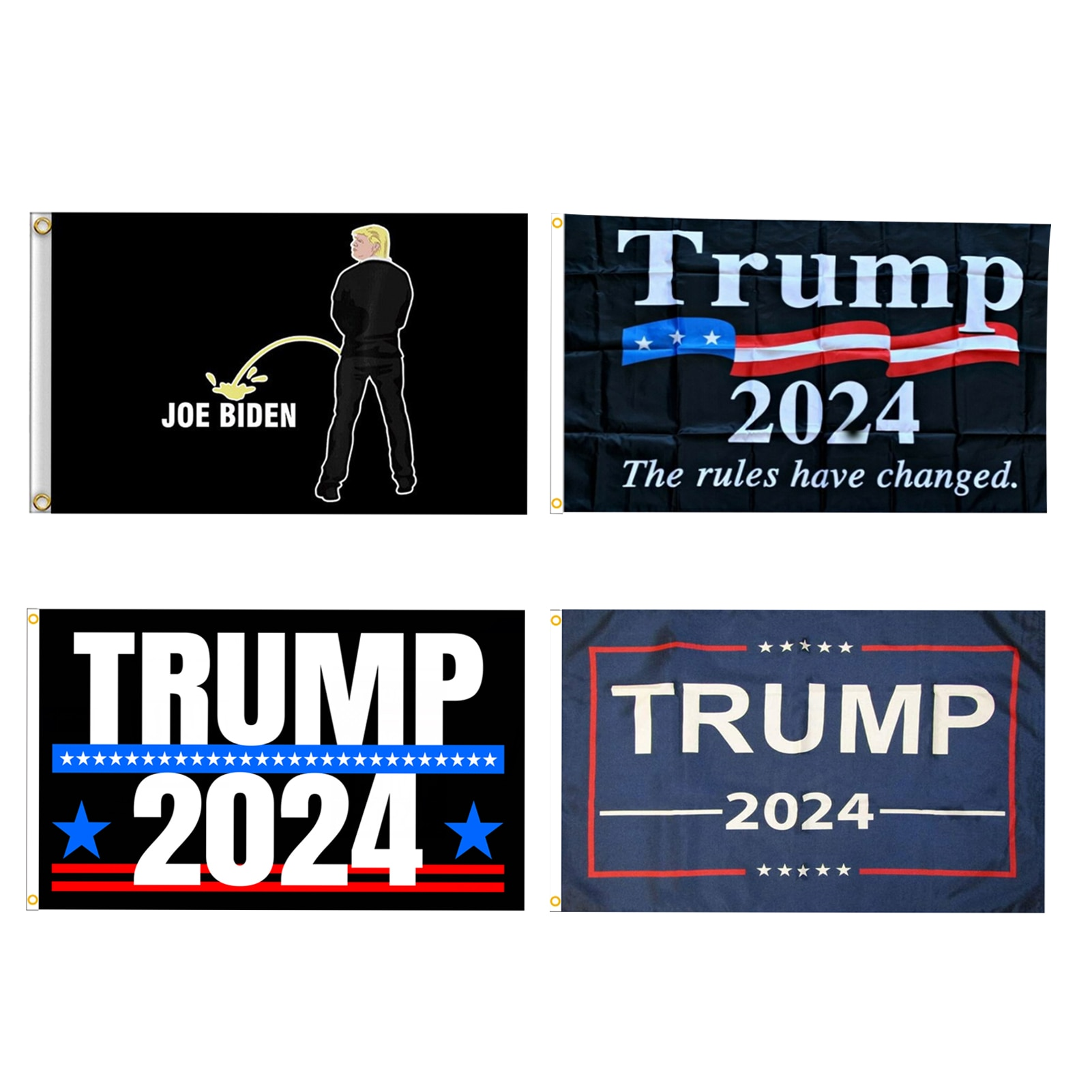 Trump 2024 drapeau avec 2 œillets polyéthylène 100D polyéthylène Nylon bannière drapeau délection 90*150cm