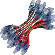 50pcs 12mm WS2811 polychrome LED Module de lumière de Pixel DC 5V IP68 imperméable rvb 2811 1903 IC LED numérique noël