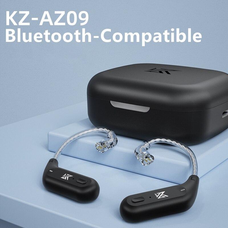 KZ AZ09 Wireless Earphones Bluetooth-Compatible 5.2 Wireless Ear Hook C Pin Headphones Cables Connec