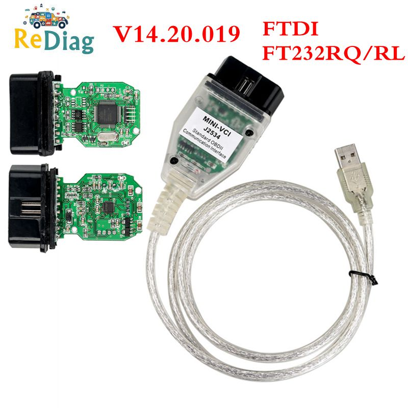 Новейший V14.20.019 TIS Techstream MINI VCI поддержка для Toyota многоязычный FT232RQ/RL OBD2 USB Diganotsic интерфейс 2020