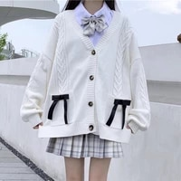 japanese college style jk sweater womens autumn winter loose outer wear sweater knitted cardigan coat 2020 new school sweater