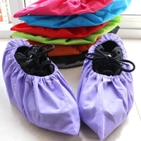 reusable shoe covers new non woven shoe cover household thick washable shoes covers non slip non disposable guests family tools