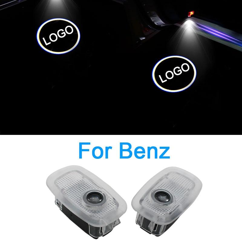 2 uds. Luz LED para puerta de coche Maybach Mercedes Benz W220 W211 W222 S320 S500 S560 S600 diseño de coche Maybach Logo proyector Luz