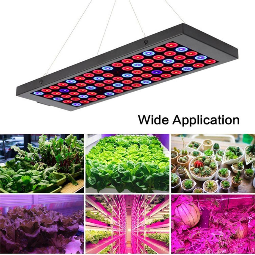 مصباح حوض السمك مصباح النبات LED النبات الطيف الكامل لوحة AC85 ~ 265 فولت 40 واط الدفيئة المائية تنمو مصباح للنباتات داخلي زهرة النمو