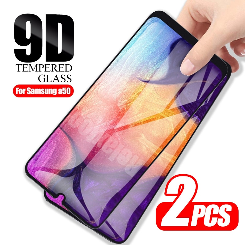 2pcs 9D protective glass For samsung Galaxy a50 screen protector on the sumsung galax a51 a 50 51 a5