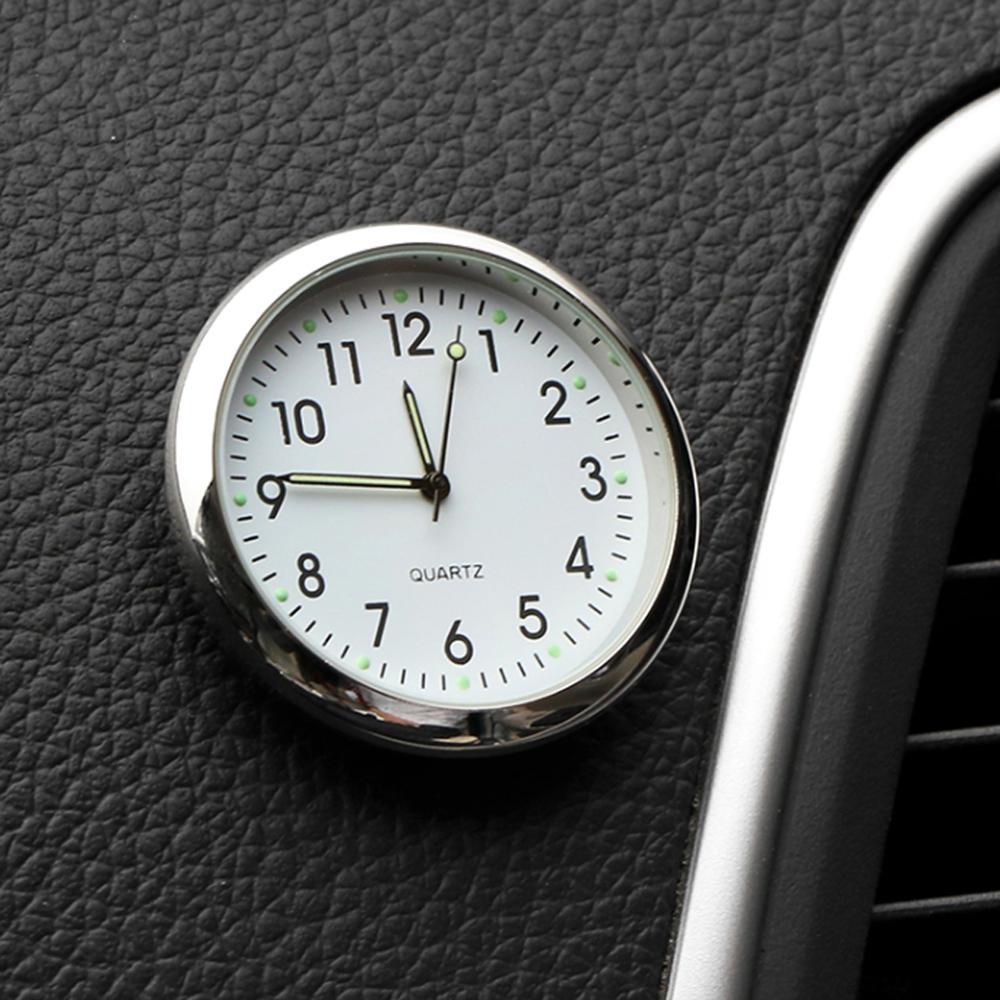 Светящиеся мини-часы для автомобиля, цифровые часы с наклейкой, механика, кварцевые часы, автоукрашение, автомобильные аксессуары, подарки