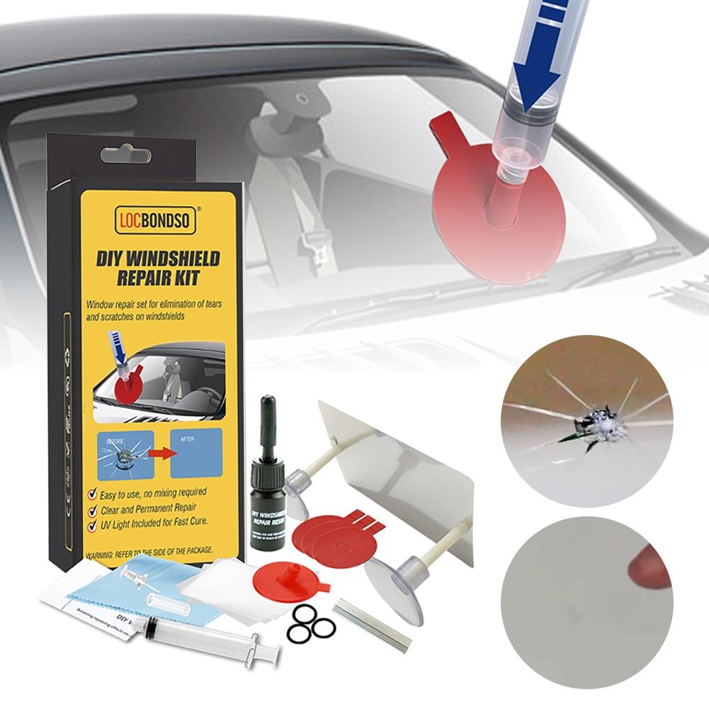 Профессиональный набор для ремонта ветрового стекла автомобиля, инструменты для восстановления царапин и трещин на стекле, для полировки с...