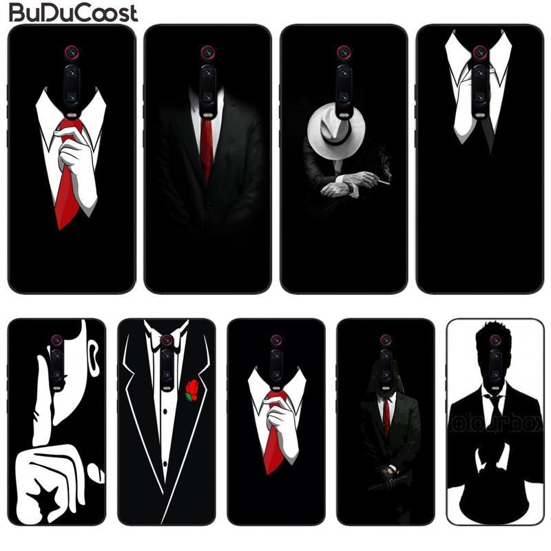 Traje De Hombre camisa corbata funda de teléfono para Xiaomi Redmi Note 7 5 6 8 Pro 9 S Mi8 Mi10 A2 Lite 6X Mi9 SE 9t Pro 8 8A cubierta