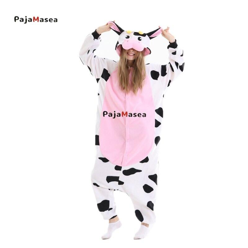 Adult Unisex Anime Cow Pajamas Halloween Cosplay Costume Party Jumpsuit Men and Women Raccoon Kiguru