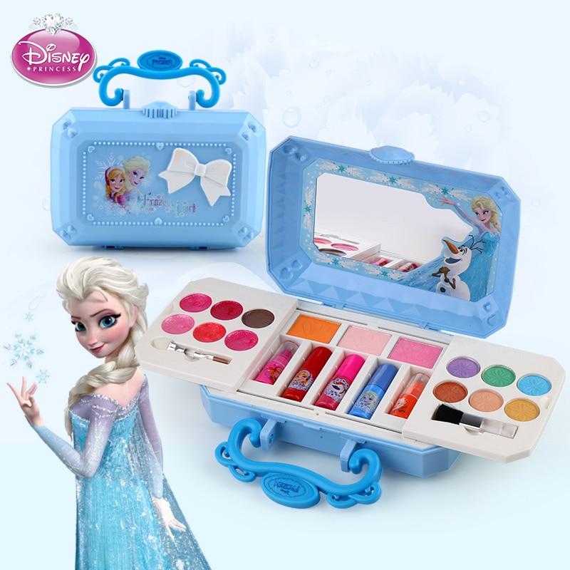 Фото - Disney girls frozen elsa anna  real make up Set Toy kids snow White princess Tattoo stickers toy kids Gift подарочный набор disney frozen ii anna house set
