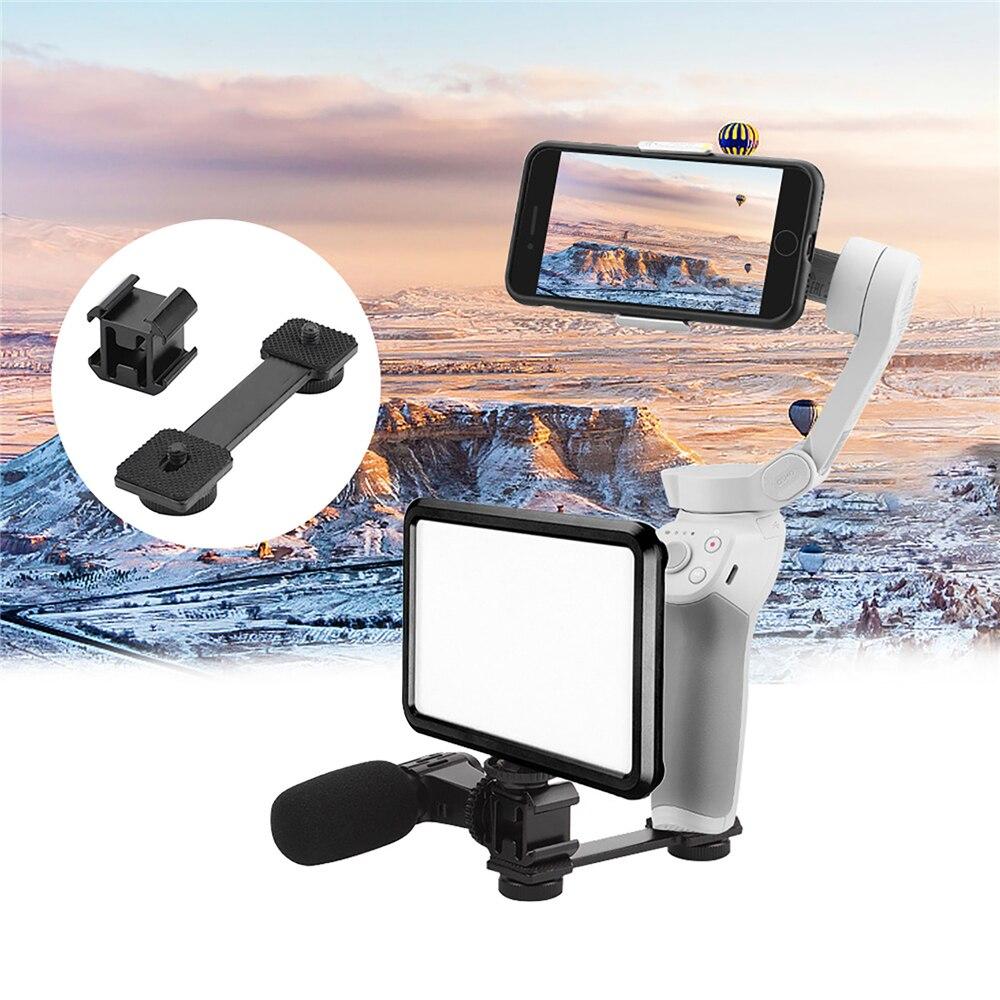 Led luz de preenchimento vídeo montagem sapata fria para dji om 4 microfone suporte para omso móvel 2 3 para zhiyun suave 4